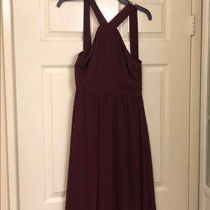 Lulus Air of Romance Burgundy Dress